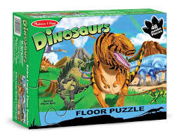 melissa and doug 48 piece land of dinosaurs floor puzzle toys
