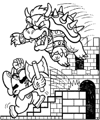 Super Mario Characters Coloring Page