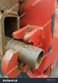 Rusty Red Tailgate Latch On Dump Stock Photo (Edit Now) 1049912039 ...