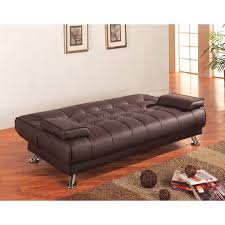 Sofa Bed In Walmart by Wildon Home Sleeper Sofa In Rich Brown Walmart Com