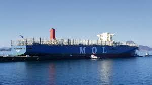 mol triumph plus gros porte conteneurs du monde au havre le 21 mai