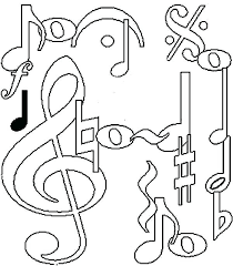 Musical Instruments Coloring Pages To Print Music Notes