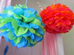 DIY How To Make Tissue Paper Pom Poms For Party Or Wedding Decoration