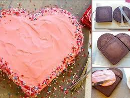 aus zwei runden kuchen ganz einfach ein herz zaubern oder