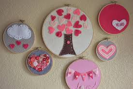 DIY Valentines Day Embroidery Hoop Art