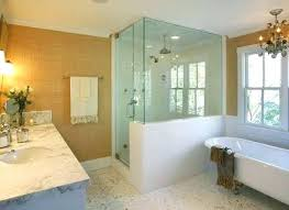 Bathroom Half Wall Shower How To Build A Traditional With