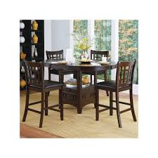 5 Piece Counter Height Dining Room Sets by Homevance Verona 5 Piece Counter Height Dining Set Brown Verona