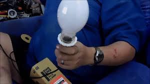 Self Ballasted Lamp Bulb by Eye Lighting 160w Self Ballasted Mercury Lamp Youtube