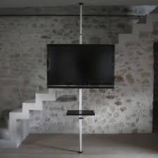 support tv sur pied orientable et inclinable potorose
