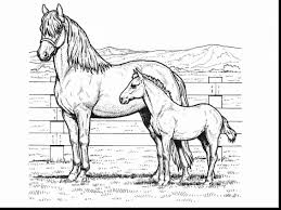 Remarkable Horse Coloring Pages With Printable And Rocking