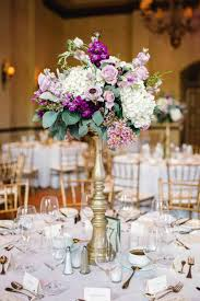 Reception Light Pink Wedding Centerpieces Centerpiece Of White Hydrangea Lavender Roses Fun Filled And Gold Tall