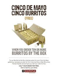 Chipotle Halloween Special by Cinco De Mayo Specials Press Release From Chipotle Tasty Chomps