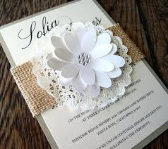 Rustic Burlap Lace White Wedding Invitations Australia Vintage With