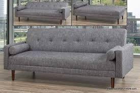 8062 grey color linen fabric klik klak sofa bed with 2 round