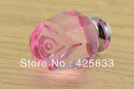 10pcs k9 pink crystal rose pulls kitchen handle drawer pink