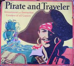 1911 Pirate And Traveler Game Box