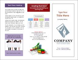 Tri Fold Brochure Template Word 2010 Pamphlet In Microsoft Shefftunes