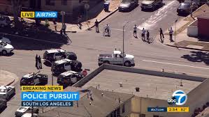 100 Truck Stop Los Angeles South LA Chase Suspect Arrested After Slowspeed Pursuit Abc7com