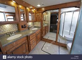 Luxury Motorhome RV Bathroom Interior Large Coach