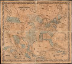 Coltons Map Of The United States America British Provinces Mexico And West Indies