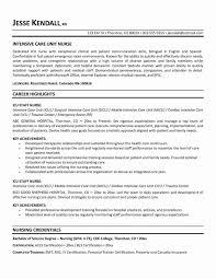 Registered Nurse Resume Examples Elegant Sample
