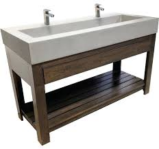 Trough Sink With Two Faucets by Double Faucet Trough Sink Inch Wall Hung Trough Bathroom Sink Two