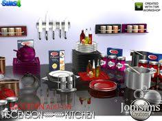 And For Your Modern Ascension Kitchen Here The Add On Clutters Found In TSR Category Sims 4 Decorative Sets Source Jomsims