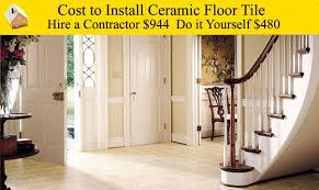 cost to install ceramic floor tile