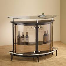 Contemporary Clear Glass Bar With Black Accents And Stemware ... Round High Glass Top Bar Table And Minimalist Adjustable Swivel Home Design Ideas Images On Breathtaking Modern Dimensional In Stainless Steel Chrome With Black Tempered Display Cabinet Small Gammaphibetaocucom Bar Admirable In Kitchen With Counter White Vanity Clear For Displaying Makeup Make Rustic Height Set 5 X 7 Outdoor Rugs Vase Entrancing Bistro Stools Cleaning Pedestal Pub 42 Ding Aosom Hcom 28 Tables Green Accent Open Bars Contemporary Unit Fniture Luxurious