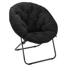 Room EssentialsTM Sherpa Dish Chair Black Target