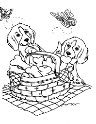 Christmas Puppy Coloring Pages 6