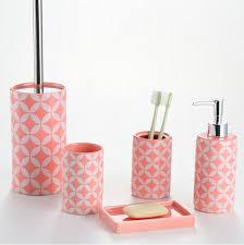 pink bathroom accessories set pink bathroom accessories set