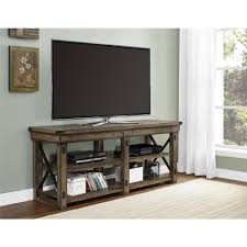 Ameriwood Computer Desk With Shelves by Ameriwood Wildwood Rustic Gray Oak Storage Entertainment Center