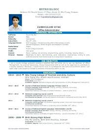 Resume Examples For College Graduate With No Experience Format Fresh Graduates Sample