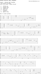 Blues Guitar Song Lyrics Chords Tablature Playing Hints For Lenny Stevie