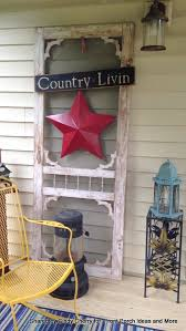 Cindy Decorated A Vintage Screen Door With This Pretty Red Star