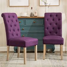 Habit Solid Wood Tufted Parsons Dining Chairs (Set Of 2) (Purple ... Ax Mgaret Purple Velvet Ding Chair Contemporary Room Design Ideas Showcasing Rectangle White Chairs First Fniture Nella Vetrina Visionnaire Ipe Cavalli Single Katie Arm Bri Kitchen Fabric Metal Frame Modern Set Industrial Vintage Wood Iron Antique Finish Cello Buy Wrought Chairspurple The Store Oak Leather And Chairs Archives Cumbria Wooden Effect Legs Living With Back And Arms Also Four Glass Round Table Natural Pine Tabletop