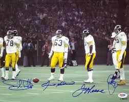 Pittsburgh Steelers Iron Curtain Defense by Steel Curtain Autographed Pittsburgh Steelers 11x14 Photo Psa Dna