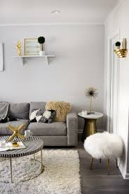 West Elm Overarching Floor Lamp by A Modern Monochrome Living Room Front Main