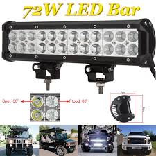 72W LED WORK Lights Bar Spot Flood Light Offroad Vehicle Truck Car ... Truck Lite Led Spot Light With Ingrated Mount 81711 Trucklite Work Light Bar 4x4 Offroad Atv Truck Quad Flood Lamp 8 36w 12x Work Lights Bar Flood Offroad Vehicle Car Lamp 24w Automotive Led Lens Fog For How To Install Your Own Driving Offroad 9 Inch 185w 6000k Hid 72w Nilight 2pcs 65 36w Off Road 5 72w Roof Rigid Industries D2 Pro Flush Mount 1513 180w 13500lm 60 Led Work Light Bar Off Road Jeep Suv Ute Mine 10w Roundsquare Spotflood Beam For Motorcycle