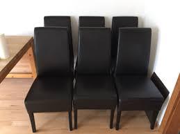 6 schwarze stühle kunst leder esszimmer top