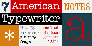 ITC American Typewriter By Adobe