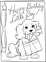 Happy Birthday Coloring Pages Kids Cards