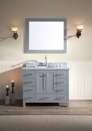 Single Sink Bathroom Vanity Top by Ariel Cambridge 43 Inch Single Sink Bath Vanity Set In Gray