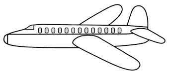 Airplane clipart black and white 2