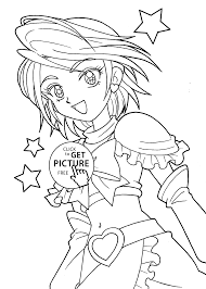 Cure Coloring Pages For Girls Printable Free And Pretty