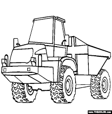 Articulated Dump Truck Coloring Page