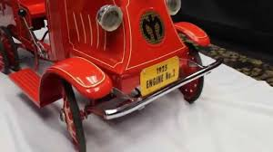 1925 Original STEELCRAFT MACK FIRE TRUCK Pedal Car W/ Dual Rear ... Goki Vintage Fire Engine Ride On Pedal Truck Rrp 224 In Classic Metal Car Toy By Great Gizmos Sale Old Vintage 1955 Original Murray Jet Flow Fire Dept Truck Pedal Car Restoration C N Reproductions Inc Not Just For Kids Cars Could Fetch Thousands At Barrett Model T 1914 Firetruck Icm 24004 A Late 20th Century Buddy L Childs Hook And Ladder No9 Collectors Weekly Instep Red Walmartcom Stuff Buffyscarscom Page 2