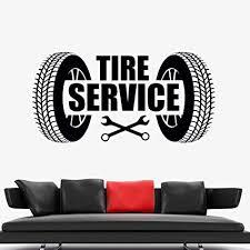 autoreifen service logo wandaufkleber reparatur garage kunst