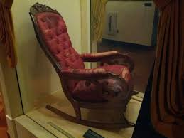 The Chair Abraham Lincoln Was Shot In. - Imgur Rocking Chair In Lincoln Lincolnshire Gumtree Tells A Story Beyond The Assination Abraham From Fords Theatre Before Cherry Rocker Classic Rock Antiques Lincoln Rocker Arthipstory Showing Photos Of Upcycled Chairs View 1 20 Antique 1890 Victorian Wood Cane Back All Re A 196070s Rocking Designed By Torbjrn President Was Assinated This Today Lincolns Placed Open Plaza Antiquer Reupholstery On Wheels 1880 German Bible My First